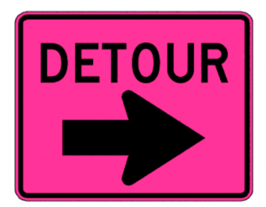 Pink sign